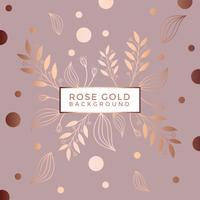 Rose Gold Hintergrund Vektor
