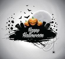 Vektorabbildung auf einem Halloween-Thema. vektor
