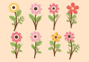 Blume Clipart Set Vektor-Sammlung vektor