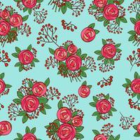 sömlös textur med vintage rosor