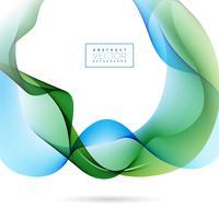 Abstraktes Wellen-Design auf weißem Hintergrund. Vektor-Illustration.