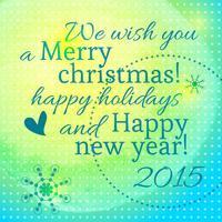 Beschriftung mit dem neuen Jahr und frohen Weihnachten