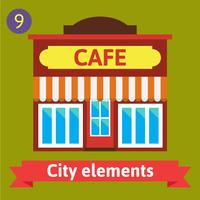 Cafe Gebäude, Bistro vektor