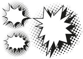 Blash Splash-Vorlage in drei Ausführungen vektor