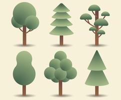 Tree Clipart Set vektor