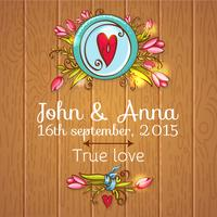 Hochzeitseinladung speichern die Datumskarten
