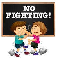 Kein Kampfzeichen und keine Jungenkämpfe