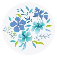 Eleganz-Blumen-Sammlung vektor