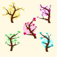 Baum-Clipart-Satz vektor