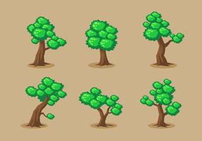 Baum Clipart Vektor festgelegt