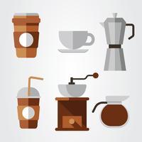 Kaffeelement Clipart Vektorpaket vektor