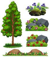 Ein Satz Waldelement