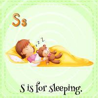 Ett brev S för att sova vektor