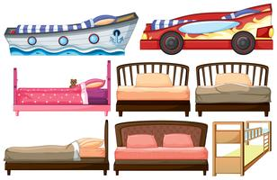 Verschiedene Bettdesigns