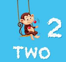 Affe, der Kugel zwei jongliert vektor
