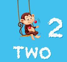 Monkey jonglering två boll