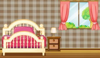Säng och fönster