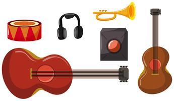 Set verschiedene Musikinstrumente vektor