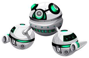 Rundes Raumschiff auf weißem Hintergrund vektor
