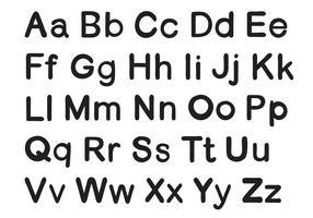 engelska alfabet vektor
