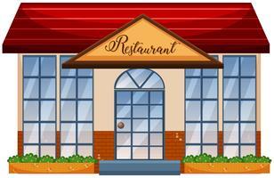 Ein Restaurant auf weißem Hintergrund vektor