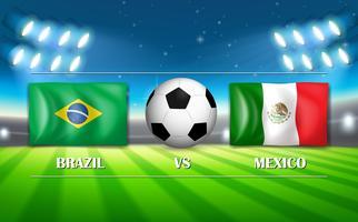 Brasilien vs Mexico fotbollsstadion