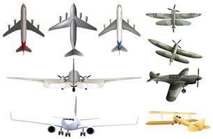 Arméflygplan på vit bakgrund vektor