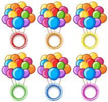 Färg ringar med färgglada ballonger