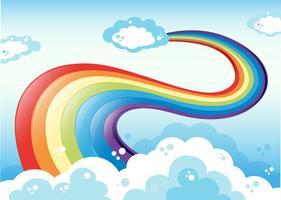 Regnbåge och himmel