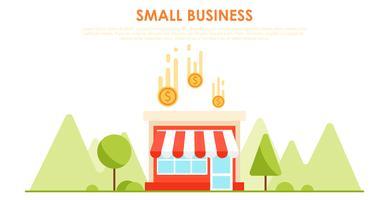 Feedback und Testimonials Ihres kleinen Geschäfts. Geld und Münze Flache Vektorillustration vektor