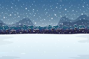 Eine Winterlandschaft im Freien vektor