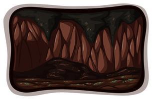 En mörk grotta på vit bakgrund