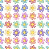 En sömlös mall med en blommig design vektor