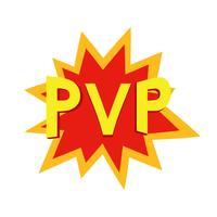 Spelare vs Spelare comics koncept. PvP-spel på nätet. Vektor platt ilustration