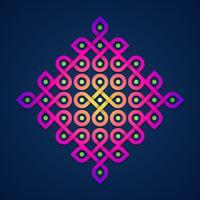 Färgglada Rangoli Ornamental Design vektor
