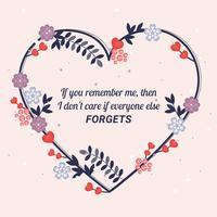 Vektor valentins dag hälsningskort