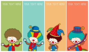Banner-Vorlage mit fröhlichen Clowns