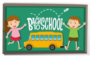 Mädchen und Jungen zurück in die Schule