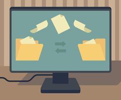 Torrent-Datei-Illustration vektor