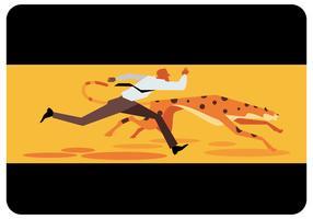 Geschäftsmann VS Cheetah Running Vector