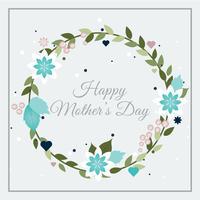 Vektor-Muttertagsgrußkarte vektor