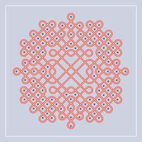 Flache indische Kolam-Muster-Vektor-Illustration