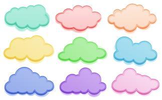 Färgglada moln