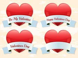 Valentine-Etiketten vektor