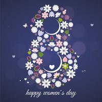 Vektor kvinnors dag hälsningskort