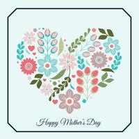 Vektor-Muttertagsgrußkarte