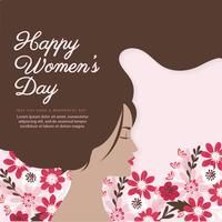 Vektor kvinnodag illustration