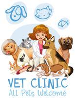 Söt Husdjursklinik Välkomstskylt