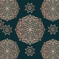 Kolam Ornament Muster Vektor Design