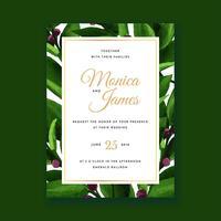 Blumenwasser-Farben-Hochzeits-Einladungs-Karte